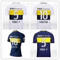 Wholesale Wholesalers boca juniors soccer Jerseys CARLITOS PEREZ P GAGO camiseta de futbol uniform Boca home away football shirts