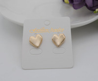 Wholesale New women s party earring oval heart earring matt stur earring real gold plating high quality stur earring