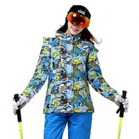 Wholesale Women Outdoor Snowboarding Ski Suit Waterproof Warm Cartoon Jacket Snowboarding Travel Camping Climbing Skating Hiking Jacket
