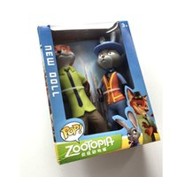 Wholesale Zootopia PVC Dolls cm Nick Judy Action Figure Dolls PVC Model Toys Best Gift With Box Free Shpping