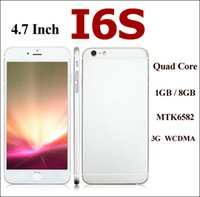 Wholesale I6S Goophone I6S Quad Core MTK6582 G GB Inch G WCDMA S7 Phones Available