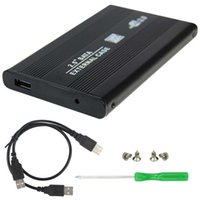 Wholesale HDD Hard Drive Disk Mobile External Enclosure Box Case Inch SATA USB Black SATA External