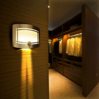 Wholesale Wall lamps LED Aluminum Case body sensor Wireless Stick Motion Sensor Activated Battery Operated Wall Sconce Spot Lights Hallway Night Light