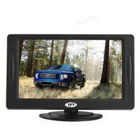 8pcs Mini 4.3 '' couleur TFT LCD Stationnement Vue arrière du moniteur pour caméra DVD VCD, écran rotatif 2 Entrée vidéo CMO_356
