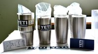 Wholesale Hot Bilayer Stainless Steel Insulation Cup OZ OZ YETI Cups Cars Beer Mug Large Capacity Mug Tumblerful DHL Free
