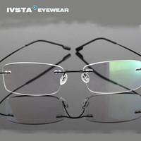 Wholesale IVSTA Silhouette Titanium Eyeglasses Frames Super Light B Memory Rimless Glasses Women Myopia Spectacle Frame e1050