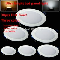 Wholesale Ultra thin W W W W W W W LED Panel Light Recessed LED Ceiling Downlight V Warm Cold White indoor light DHL Free