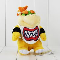 baby bowser - New Arrival Super Mario Bowser Koopa JR Stuffed Plush Doll Soft Baby Toy cm Christmas Gift For Children EMS