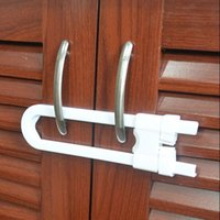 Wholesale Child Infant Baby Kid Safety Drawer Door Cabinet Cupboard U Shape Lock White L00014 SMAD