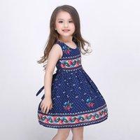 Wholesale Mitun spring and summer girls dress princess dress skirt Tutu printing manufacturers Amazon aliexpress spot