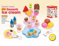 Wholesale 22pcs set Simulation Food Birthday Cake Kid Toy Pretend Play Kitchen Cooking Toys Set Baby Learning Education Toys for Children