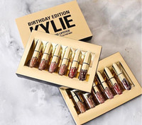 Wholesale Hot sell Kylie Lord Metal Gold THE LIMITED EDITION KYLIE BIRTHDAY COLLECTION Kylie Cosmetics Birthday Edition Swatches with DHL FREE