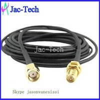 Wholesale 100x RF pigtail cable RP SMA male to RP SMA female with RG58 cable