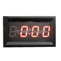 Wholesale Clocks Digital Analog Digital Clocks Digit inch Red LED Digital Electronic Clock for Car Motorcycle Motor E1Xc