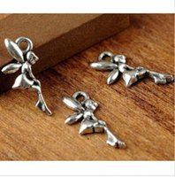 Wholesale Free Ship pcsTibetan Silver Angel Fairy Charms Pendant Fit Bracelet x19mm