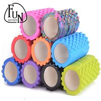 Wholesale FunSeries cm g EVA Yoga Pilates Fitness Foam Roller Column Gym Massage Grid Trigger Point Therapy Exercise Physio Stick