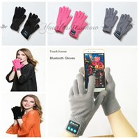 Wholesale Fedex DHL Free Touch Bluetooth Gloves Winter Touch Screen Gloves Knit Glove Mittens Men For Mobile Phone Wireless Smart Headset Speaker Z610
