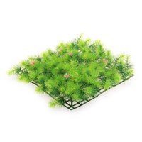 artificial grass decking - Simulation Artificial Double deck Grass Fish Tank Aquarium Ornament Decorations