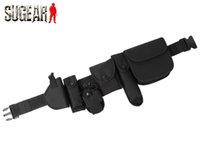 belt support system - Tactical Security Guard Black Utility Kit Belt amp Pouch System For Men Outdoor Hunting Survival Equipment Adjustable Belt Strap