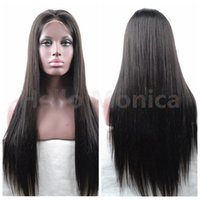 Wholesale 8A Grade Full density Brazilian Human Hair wigs Full Lace Wig in Natural baby hair hairline Full Lace Wig with silk top
