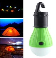 Wholesale Portable LED Camping Tent Light Bulb Fishing Lantern Lamp Outdoor Hanging Soft Lighting Light New