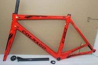 Wholesale 2016 Newest OEM red carbon bike frame T1000 carbon road frame carbon frame BB386 K road bicycle carbon frameset