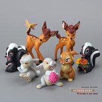 bambi movie - set Lovely Bambi PVC Action Figure Model Toys Dolls Children Toys Class Toys Christmas Gifts DSFG077