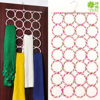 Wholesale 1083 circle scarf silk underwear rack Zexi rack multipurpose rack belt metal anti magic hanger