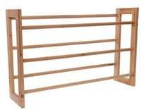 Wholesale Wooden Furniture Three Layer Wooden Shoe Rack