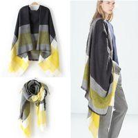 Wholesale 2015 autumn winter fashion Women Oversized Checked Plaid Scarf Shawl Stole Warm Tartan Wrap Large Pashmina