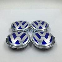 abs city - 4pcs mm VW Wheel Hub Caps Emblem Badge Car Wheel Center Cover caps For VW B7601171