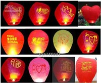 Wholesale High quality flying paper sky lanterns Manufacturer selling flying paper sky lanterns Wish gift flying lantern