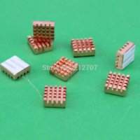 Wholesale 40PCS New Copper Xbox VGA Card DDR Ram Memory Heat Sink Cooling Heatsink Golden RHS x x mm
