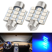 auto parts interior - 100x Blue quot mm SMD DE3175 DE3022 LED Bulbs For Car Interior light AUTO PART