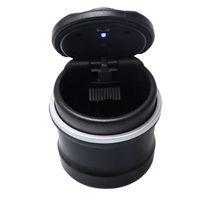 Wholesale Top Quality x8cm LED Light Portable Car Ashtrays High Flame Retardant PBT Material Universal Auto Cigeratte Holder