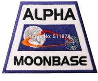 alpha tv - 3 quot SPACE Moonbase Alpha Jacket Shoulder Uniform TV MOVIE Series Costume Badge Embroidered Emblem applique iron on patch