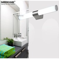 acrylic bathroom fixtures - LED W Wall light Modern Acrylic Bathroom lamp LED Mirror wall light fixture for restroom L460mm LED wall lustre fast shipping