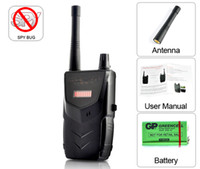 Wholesale Freeshipping Anti Spy Detector Hidden Camera Signal RF Tracker Mobile Phone GSM Bug Detector Wireless Tap Detector Dropshipping