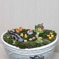 Wholesale 25Pcs set Miniature Fairy Garden Miniatures Landscape Accessories Toys Doll House Decoration gnomes moss terrariums figurines
