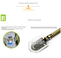 Wholesale Hornets luxury a small mini multi function gold steel shovel sappers shovel Outdoor camping car emergency equipment XD