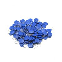 Wholesale Dual Chip Frequency RFID t5577 kHz ID key tag and UID MHZ access control tags fobs for one