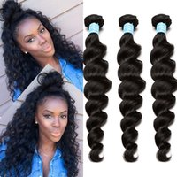 beauty wave loose - 7A Brazilian Virgin Hair Loose Wave Brazilian Hair Weave Bundles Top Beauty Hair Products Curly Weave Human Hair Extensions Large Stocks