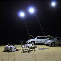 Wholesale 8pcs V LED M Telescopic Fishing Rod Outdoor Lantern Camping Lamp Light Night Fishing Road Trip