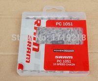 Wholesale SRAM PC1051 Speed bicycle bike Chain Silver Link PowerLock
