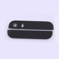Wholesale Back Rear Cover Top and Bottom Glass with Camera Flash Lens iPhone S Housing Replacement Parts Black Color