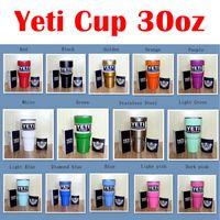 best powder coating - 30oz Yeti Rambler Tumbler Cup Coolers Powder Coated Bilayer Vacuum Insulation Cup Yeti Tumbler Mugs the best christmas gift