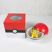 Wholesale SF EXPRESS Pocket monster piggy bank lovely pikachu fairy ball money box with one fairy ball one doll for anime fans