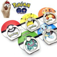 ball plastic ring - Pokémon go poke ball Plastic Phone Holder Hook card Degree Finger Ring Stand Holder For CellPhones Tablets Car Mount with Retail Package