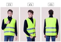 Wholesale reflective safety vest coat Sanitation vest Traffic safety warning clothing vest
