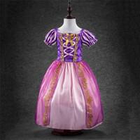 childrens wear - Brand new Summer Childrens Girls wear Clothes Kids Birthday Costumes Short Sleeve Cinderella Girls Princess Party Dresses